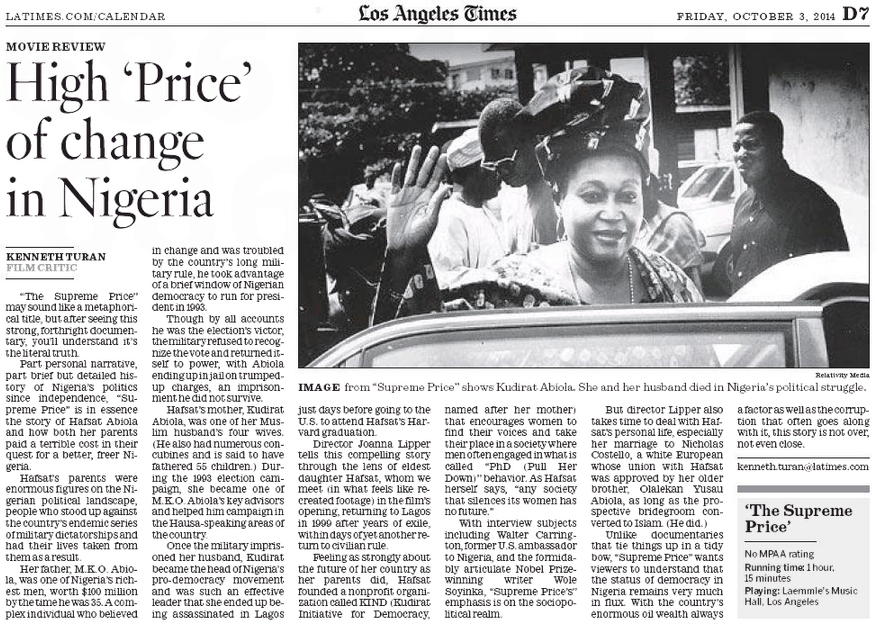 The Supreme Price article (L.A. Times, 3.10)